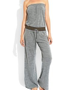 EUC Lucky Brand gray sleeveless pants romper: